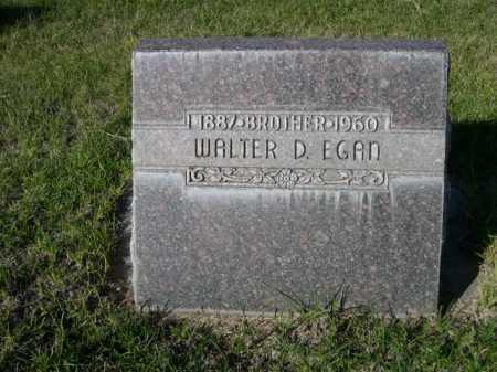 EGAN, WALTER D. - Dawes County, Nebraska | WALTER D. EGAN - Nebraska Gravestone Photos
