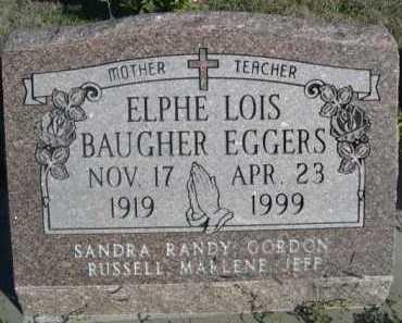 BAUGHER EGGERS, ELPHE LOIS - Dawes County, Nebraska | ELPHE LOIS BAUGHER EGGERS - Nebraska Gravestone Photos