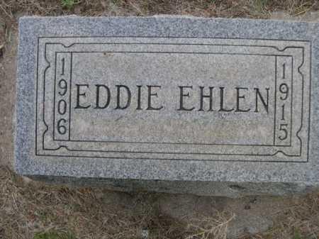 EHLEN, EDDIE - Dawes County, Nebraska | EDDIE EHLEN - Nebraska Gravestone Photos