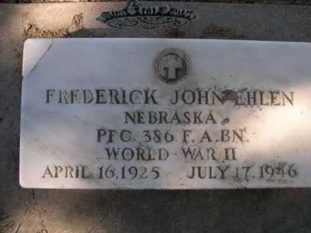 EHLEN, FREDERICK JOHN - Dawes County, Nebraska | FREDERICK JOHN EHLEN - Nebraska Gravestone Photos