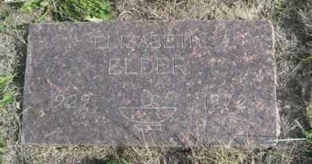 ELDER, ELIZABETH - Dawes County, Nebraska | ELIZABETH ELDER - Nebraska Gravestone Photos