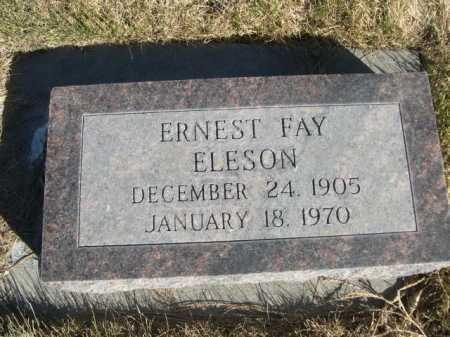 ELESON, ERNEST FAY - Dawes County, Nebraska | ERNEST FAY ELESON - Nebraska Gravestone Photos