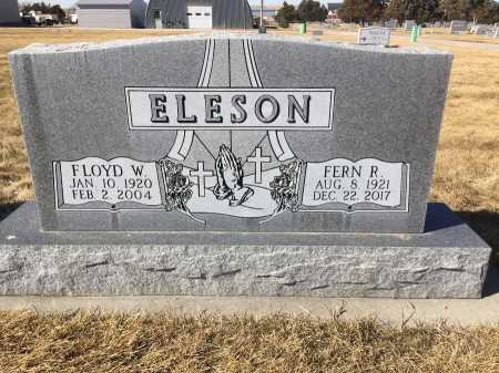 ELESON, FLOYD W. - Dawes County, Nebraska | FLOYD W. ELESON - Nebraska Gravestone Photos