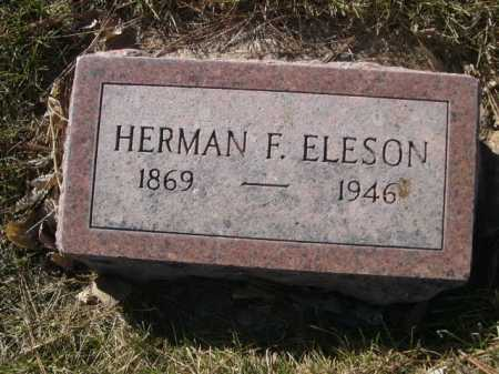 ELESON, HERMAN F. - Dawes County, Nebraska   HERMAN F. ELESON - Nebraska Gravestone Photos