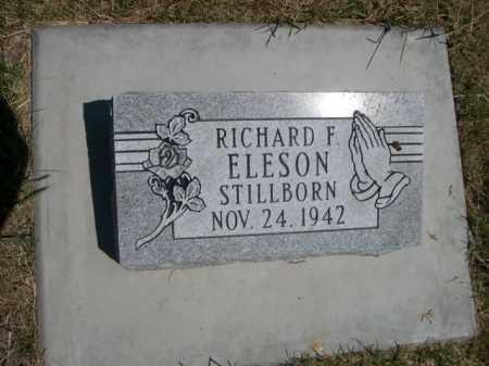ELESON, RICHARD F. - Dawes County, Nebraska | RICHARD F. ELESON - Nebraska Gravestone Photos