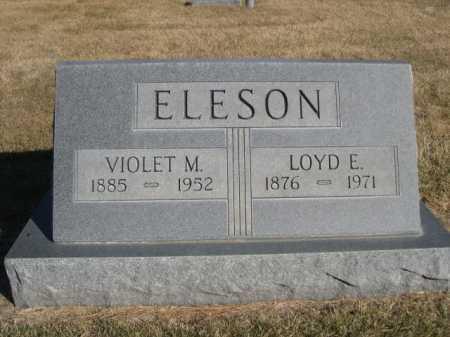 ELESON, VIOLET M. - Dawes County, Nebraska | VIOLET M. ELESON - Nebraska Gravestone Photos
