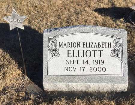 ELLIOTT, MARION ELIZABETH - Dawes County, Nebraska   MARION ELIZABETH ELLIOTT - Nebraska Gravestone Photos