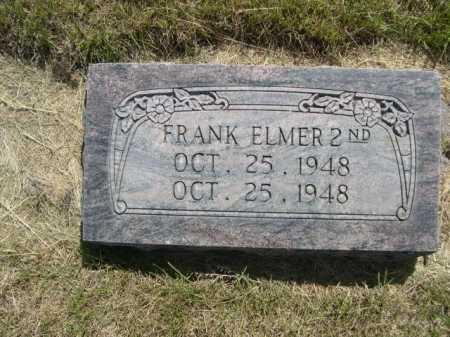 ELMER, FRANK 2ND. - Dawes County, Nebraska   FRANK 2ND. ELMER - Nebraska Gravestone Photos