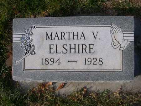 ELSHIRE, MARTHA V. - Dawes County, Nebraska | MARTHA V. ELSHIRE - Nebraska Gravestone Photos