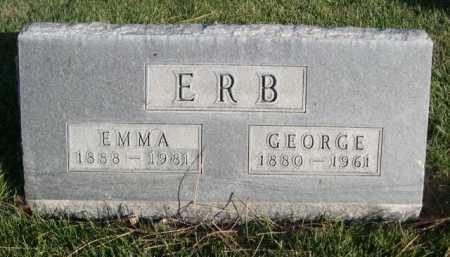 ERB, GEORGE - Dawes County, Nebraska   GEORGE ERB - Nebraska Gravestone Photos