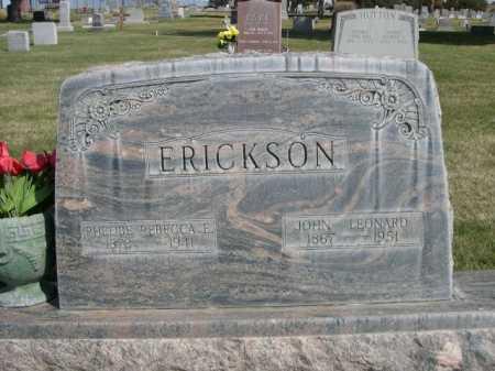 ERICKSON, JOHN LEONARD - Dawes County, Nebraska | JOHN LEONARD ERICKSON - Nebraska Gravestone Photos
