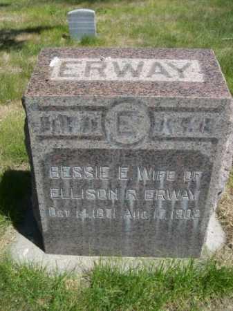 ERWAY, BESSIE E. - Dawes County, Nebraska   BESSIE E. ERWAY - Nebraska Gravestone Photos