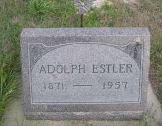ESTLER, ADOLPH - Dawes County, Nebraska | ADOLPH ESTLER - Nebraska Gravestone Photos