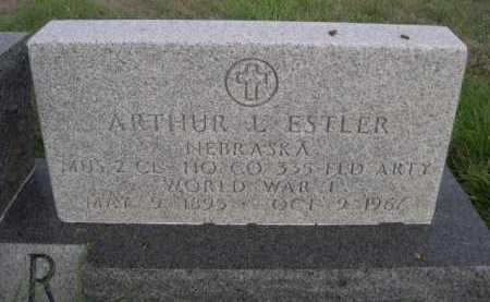 ESTLER, ARTHUR L. - Dawes County, Nebraska | ARTHUR L. ESTLER - Nebraska Gravestone Photos