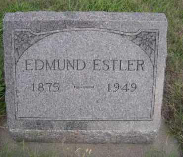 ESTLER, EDMUND - Dawes County, Nebraska   EDMUND ESTLER - Nebraska Gravestone Photos