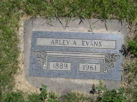 EVANS, ARLEY A. - Dawes County, Nebraska | ARLEY A. EVANS - Nebraska Gravestone Photos