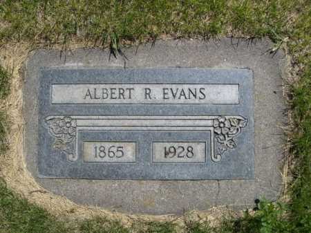 EVANS, ALBERT  R. - Dawes County, Nebraska | ALBERT  R. EVANS - Nebraska Gravestone Photos