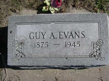 EVANS, GUY A. - Dawes County, Nebraska | GUY A. EVANS - Nebraska Gravestone Photos