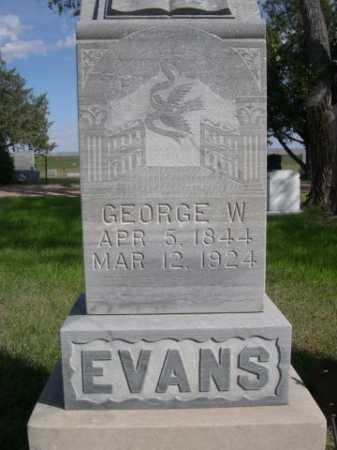 EVANS, GEORGE W. - Dawes County, Nebraska   GEORGE W. EVANS - Nebraska Gravestone Photos