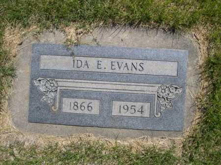 EVANS, IDA E. - Dawes County, Nebraska | IDA E. EVANS - Nebraska Gravestone Photos