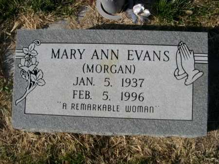MORGAN EVANS, MARY ANN - Dawes County, Nebraska | MARY ANN MORGAN EVANS - Nebraska Gravestone Photos