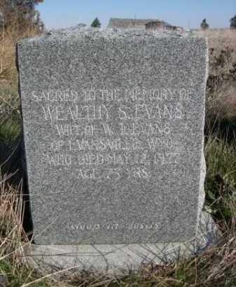 EVANS, WEALTHY S. - Dawes County, Nebraska | WEALTHY S. EVANS - Nebraska Gravestone Photos