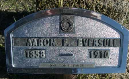 EVERSULL, AAARON F. - Dawes County, Nebraska | AAARON F. EVERSULL - Nebraska Gravestone Photos