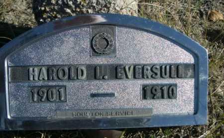 EVERSULL, HAROLD L. - Dawes County, Nebraska   HAROLD L. EVERSULL - Nebraska Gravestone Photos
