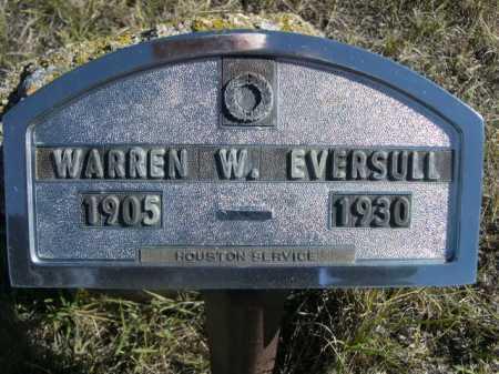 EVERSULL, WARREN W. - Dawes County, Nebraska   WARREN W. EVERSULL - Nebraska Gravestone Photos