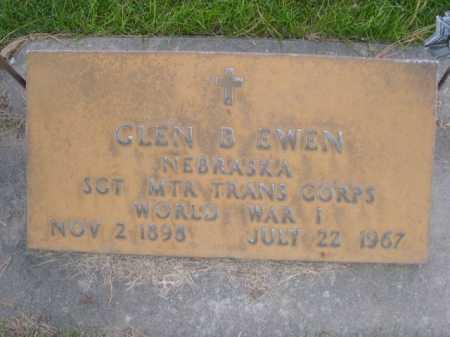 EWEN, GLEN B. - Dawes County, Nebraska | GLEN B. EWEN - Nebraska Gravestone Photos
