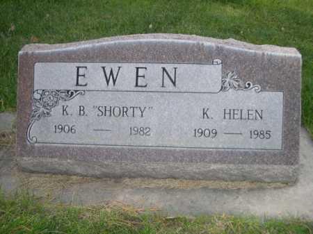 EWEN, K. HELEN - Dawes County, Nebraska | K. HELEN EWEN - Nebraska Gravestone Photos