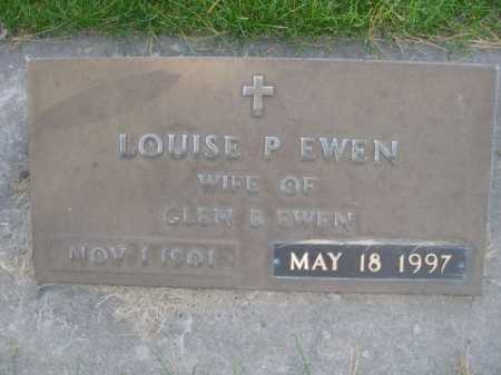 EWEN, LOUISE P. - Dawes County, Nebraska | LOUISE P. EWEN - Nebraska Gravestone Photos