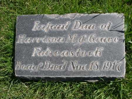 FAHENSTOCK, INFANT DAU OF HARRISON & GRACE - Dawes County, Nebraska | INFANT DAU OF HARRISON & GRACE FAHENSTOCK - Nebraska Gravestone Photos