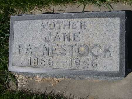 FAHNESTOCK, JANE - Dawes County, Nebraska | JANE FAHNESTOCK - Nebraska Gravestone Photos