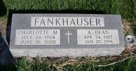 FANKHAUSER, A. DEAN - Dawes County, Nebraska   A. DEAN FANKHAUSER - Nebraska Gravestone Photos
