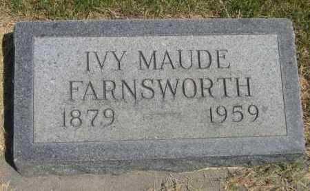 FARNSWORTH, IVY MAUDE - Dawes County, Nebraska | IVY MAUDE FARNSWORTH - Nebraska Gravestone Photos