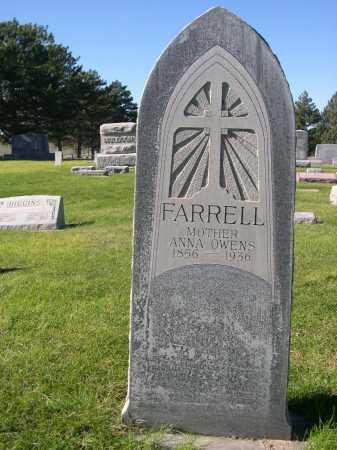 FARRELL, ANNA OWENS - Dawes County, Nebraska | ANNA OWENS FARRELL - Nebraska Gravestone Photos
