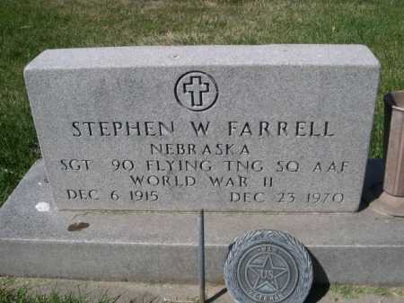 FARRELL, STEPHEN W. - Dawes County, Nebraska | STEPHEN W. FARRELL - Nebraska Gravestone Photos