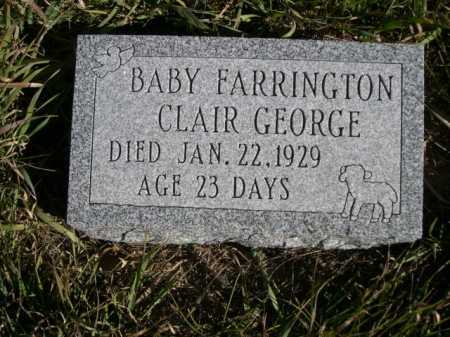 FARRINGTON, CLAIR GEORGE - Dawes County, Nebraska | CLAIR GEORGE FARRINGTON - Nebraska Gravestone Photos