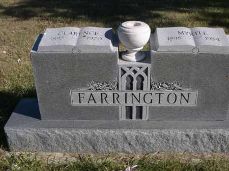 FARRINGTON, MYRTLE - Dawes County, Nebraska   MYRTLE FARRINGTON - Nebraska Gravestone Photos