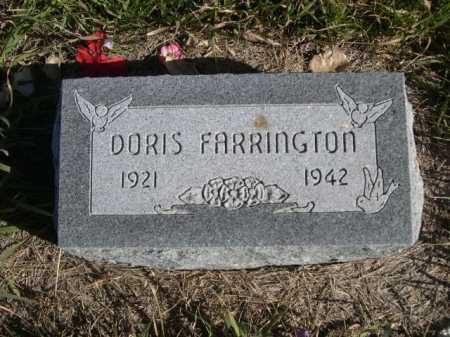 FARRINGTON, DORIS - Dawes County, Nebraska   DORIS FARRINGTON - Nebraska Gravestone Photos