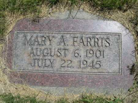FARRIS, MARY A. - Dawes County, Nebraska | MARY A. FARRIS - Nebraska Gravestone Photos