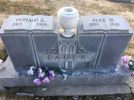 FAULK, DONALD Z. - Dawes County, Nebraska | DONALD Z. FAULK - Nebraska Gravestone Photos