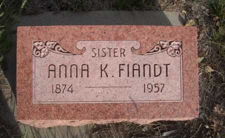 FIANDT, ANNA K. - Dawes County, Nebraska | ANNA K. FIANDT - Nebraska Gravestone Photos