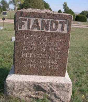 FIANDT, REBECCA J. - Dawes County, Nebraska | REBECCA J. FIANDT - Nebraska Gravestone Photos