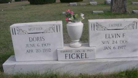 FICKEL, ELVIN F. - Dawes County, Nebraska | ELVIN F. FICKEL - Nebraska Gravestone Photos