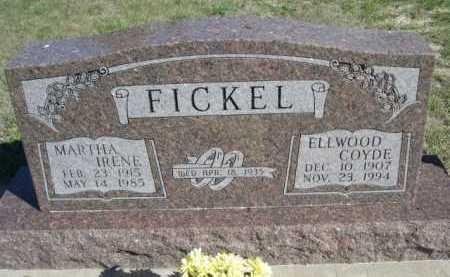 FICKEL, MARTHA IRENE - Dawes County, Nebraska | MARTHA IRENE FICKEL - Nebraska Gravestone Photos
