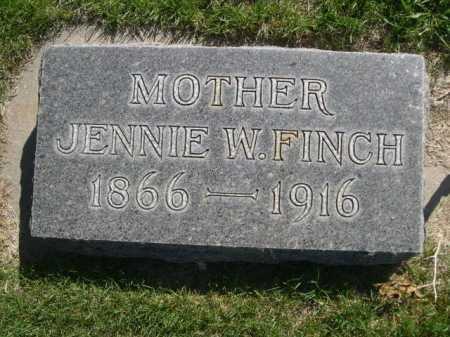 FINCH, JENNIE - Dawes County, Nebraska | JENNIE FINCH - Nebraska Gravestone Photos