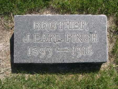 FINCH, J. EARL - Dawes County, Nebraska   J. EARL FINCH - Nebraska Gravestone Photos