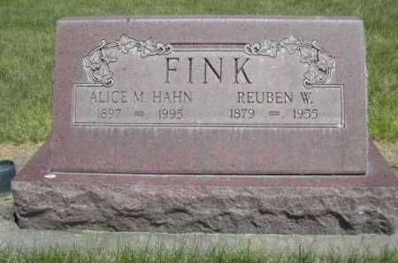 HAHN FINK, ALICE M. - Dawes County, Nebraska | ALICE M. HAHN FINK - Nebraska Gravestone Photos